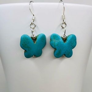 Handcrafted earrings with Butterflies